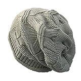 Chapeaux tricotés, Solide décontracté Chaud Hip-hop Cap Malloom Femmes Hiver extérieur
