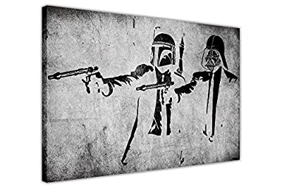 Canvas Wall Art Prints Banksy Pictures Star Wars Pulp Fiction Stormtrooper Home Decoration Street Art Graffiti Photos - cheap UK light shop.