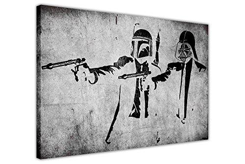 CANVAS IT UP Kunstdruck auf Leinwand, Motiv: Star Wars/Pulp Fiction - Sturmtruppen, Graffiti-Stil, 1- A3-16