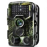 Electsts Caméra de Chasse, 16MP 1080P Caméra de Surveillance avec 42 LEDs IR IP65 Étanche Vision de Nuit 65ft/20m,Grand Angle 120° pour Sentier Faune Scoutisme Jeu Piste Traque