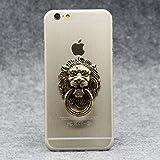 Gros Lion Head Metal Finger Ring Mobile Phone Stand Holder for All Smartphones