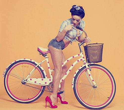 Fahrradaufkleber - Set Punkte Design 2cm 100 Stück zum selberkleben wetterfest Fahrradsticker Farbe Rot