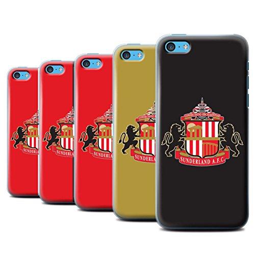 Offiziell Sunderland AFC Hülle / Case für Apple iPhone 5C / Pack 6pcs Muster / SAFC Fußball Crest Kollektion Pack 6pcs