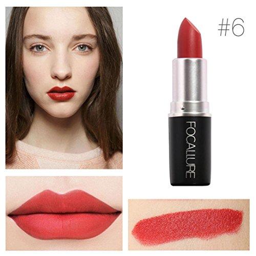 Yogogo - Rouge à lèvres - Nouveau Cosmétiques Mode Métalliquepour maquillage beauté longue durée 6#