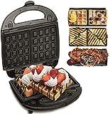 3in1 Waffeleisen | Sandwichmaker | Elektrogrill | Sandwichtoaster | Kontaktgrill | Paninigrill | Waffeltoaster...
