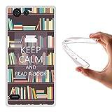 Elephone S2 Hülle, WoowCase Handyhülle Silikon für [ Elephone S2 ] Keep Calm and Read a Book Handytasche Handy Cover Case Schutzhülle Flexible TPU - Transparent