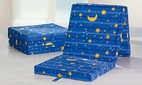 Matratzendiscount Klappmatratze Sonne Mond und Sterne uni 65x195 Faltmatratze / Klappmatratze - Made in Germany - als Gästebett / Gästematratze, Oeko-Tex Standard 100, Prüf-Nr. 10.0.82310, Bezug abnehmbar, waschbar und trocknergeeignet