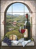 Fliesenwandbild - Ein Stück Toskana - von Barbara Felisky - Küche Aufkantung/Bad Dusche