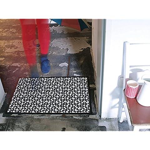 Diseño de 70 x 50 cm banjado - Felpudo con diseño de estera antideslizante con forma de casa para puerta Felpudo con diseño de tres cuartas partes