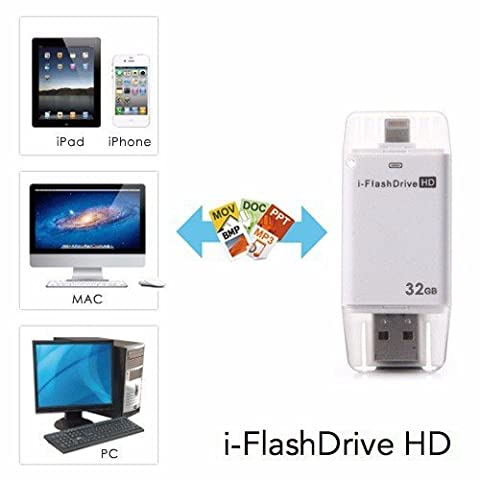 eMart Cell Phone 32GB USB Flash Drive i-Flash HD Memory