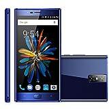 """OUKITEL K3 4G Smartphone Débloqué(4 caméras 13MP 2MP - 5.5"""" FHD 2.5D Arc écran - 4Go RAM 64Go ROM - Android 7.0 MTK6750T Octa-core - 6000mAh Batterie - Touch ID Reconnaissance d'Empreinte Digitale - Charge Rapide - Dual SIM - WIFI OTG OTA Bluetooth)- Bleu"""