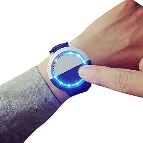 baishitop Unisex grande quadrante quarzo analogico orologio da polso cinturino in pelle PU & # xFF08; a & # xFF09;