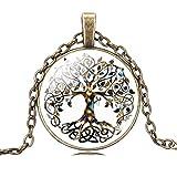 Jiayiqi Frauen Sohle Efeutute Digital Drucken Wert Baum Halskette Verstellbar Bronze Kette Halskette