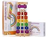 Harmonisches Xylophon für Kinder aus Holz - Glockenspiel mit Notenbuch und Holz-Schlägeln - Musikinstrument ab 3 Jahren mit wundervollen Klängen von SCHMETTERLINE®