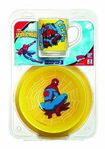 Luminarc 926152 Service de table 3 pièces pour enfants Motif Spiderman Usage quotidien