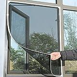 TAOtTAO Inneninsekt-Fliegengitter-Vorhang-Maschen-Wanzen-Moskito-Netz-Tür-Fenster (Schwarz)