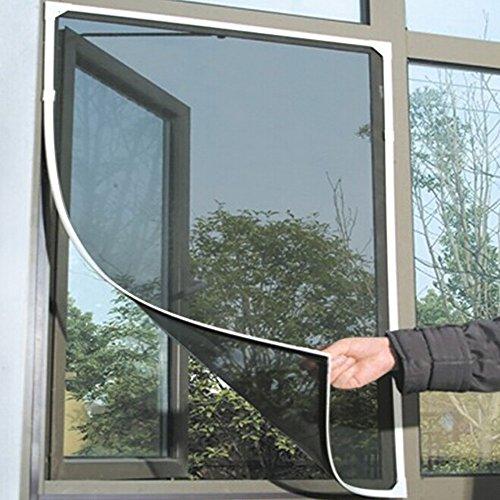 (TAOtTAO Inneninsekt-Fliegengitter-Vorhang-Maschen-Wanzen-Moskito-Netz-Tür-Fenster (Schwarz))