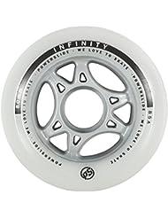 Powerslide 905228 Infinity II - Ruedas para patines (80mm, 4 unidades), color blanco