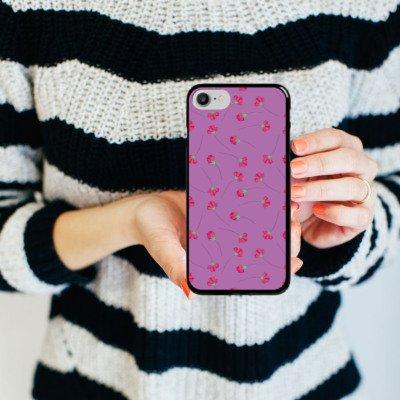 Apple iPhone X Silikon Hülle Case Schutzhülle Rosen Blumen Muster Hard Case schwarz