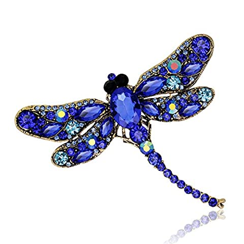 LUFA Rhinestone Dragonfly Brooch Pin Animal Brooch Women Dress Scarf Brooch Pins