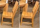 bv-vertrieb 2 Esszimmerstühle 2 x Stuhl Kernbuche geölt 2 Küchenstühle Kernbuche - (723)