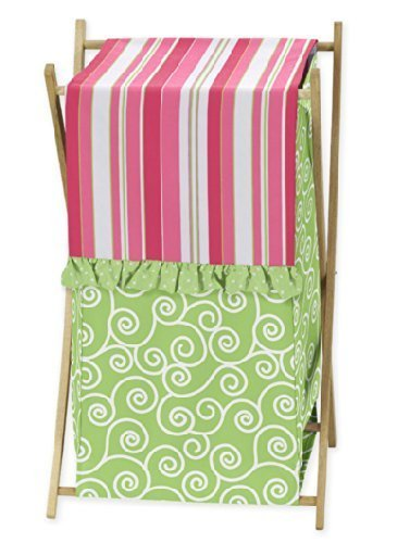 Baby/Kids Clothes Laundry Hamper for Sweet Jojo Designs for Pink and Green Olivia Bedding