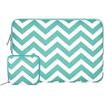 MOSISO Chevron Style Tissu de Toile Housse pour 12,9 iPad Pro et 13-13,3 Pouces Ordinateur Portable / Netbook / MacBook Pro / MacBook Air, Chaud Bleu