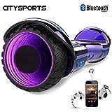CITYSPORTS Hoverboard 6.5', Self Balancing Scooter Patinete Eléctrico con Rueda LED y Bluetooth Integrado, Motor 2 * 350W
