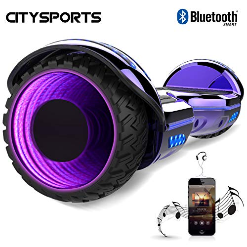 CITYSPORTS Hoverboard 6.5', Self Balancing Scooter Patinete Eléctrico con Rueda LED y Bluetooth Integrado, Motor 2 * 350W