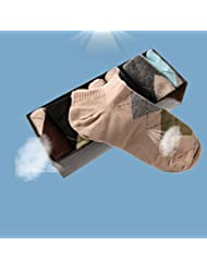 lesilverskys £ ¨ TM) 8paires de printemps respirant fin en coton chaussettes chaussettes de coton pour homme classique Business hommes chaussettes courtes Boîtes cadeau qa014-sz
