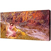 Frederick Arthur Bridgman–Bridgman Frederick Arthur Il Falcon Hunt–Riproduzione artistica su tela, di alta qualità Stampa artistica - Hunt Picture