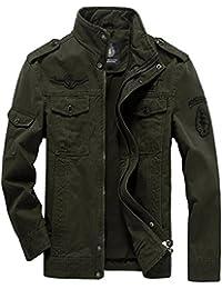 Vêtement lavé Coton des hommes de cou de pied mince couche de la veste casual ()