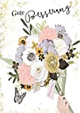 Popshot Studios Gesundheit Karte Glitzersteine Grußkarte Besserung Blumen 17x12cm