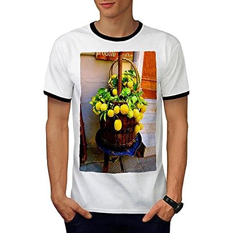 Countryside Lemon Food Men M Ringer T-shirt | Wellcoda