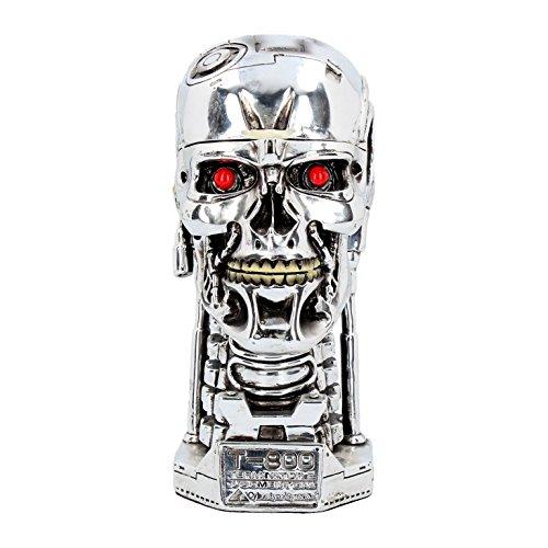 Deko Figur Terminator 2 Schädel Box Schwarzenegger T-800 Endoskelett Dekoration NN81 (Zwei Terminator)