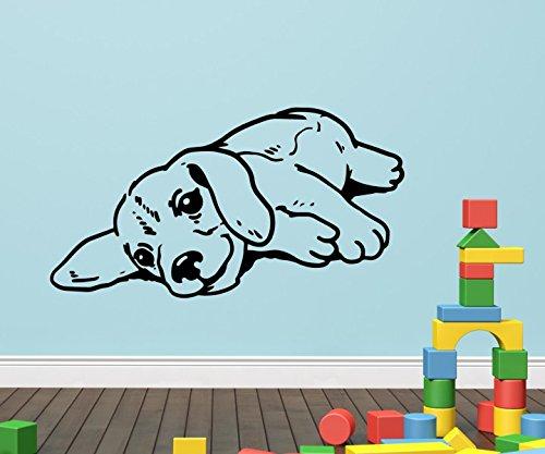 Wandtattoo Hund dog Welpe lustig nett Kinderzimmer sticker Tier Hunde Aufkleber Wohnzimmer Schlafzimmer 1B063