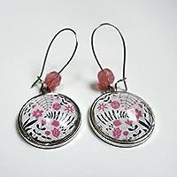 Ohrringe, Die rosa Blumen