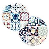 BOHORIA® Premium Design sottopentola in Ceramica – Sottopentola Decorativo per vasi, pentole, caraffe e Bottiglie sul Tavolo da Pranzo in Legno, Vetro o Pietra (Circa 18 cm) Ceuta Tile