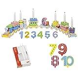 Die LuLuGoS Goki Geburtstagszug Zahlen 1-10 10er Set Kerzen weiß