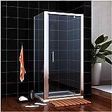 SIRHONA Cabine de douche 90x70x185 cm Porte pivotante en verre securit