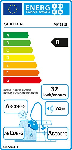 Severin-My-7118-Aspirapolvere-Multiciclonico-Senza-Sacco-con-Regolatore-di-Potenza-Blu-scuro