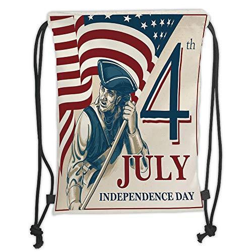 Icndpshorts 4th of July Decor,Watercolor Stylized American d'occasion  Livré partout en Belgique