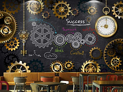 Gewohnheit Irgendeine Größe 3D Stereo Europäischen Und Amerikanischen Industriellen Wind Goldene Gang Tafel Wandbild Wand Kunst Wohnkultur Tapete Wandbild (Ufc-gang)