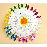 60 pcs Epingles Droites Pins epingles a Tete Feuilles pour Couture Decoration de Mariage Artisanat DIY - Multicolore
