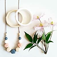 Mama Knows Silicone Teething Necklace - Spring
