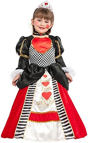 Kind Herzen Der Prinzessin Kostüm Königin - Chiber - Kinder Kostüm Herzkönigin (Größe: 8)