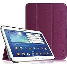 Fintie Samsung Galaxy Tab 3 10.1 Funda - Ultra Slim Smart Case Funda Carcasa con Stand Función y Auto-Sueño / Estela para Samsung Galaxy Tab 3 10.1 pulgadas P5200 / P5210 (Purpura)