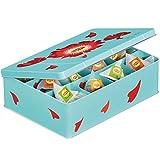 Blaue Geschenk-Teebox von Lipton mit Inhalt: 60 Pyramiden Aufgussbeuteln: 12 Sorten