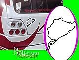 Nürburgring nr2 Nordschleife Cool hater Domo Bitch Race Power PS JDm Sticker OEM Fun Aufkleber Hater