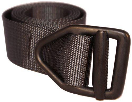 bison designs™ 38mm letzte Chance Light Duty Nylon Web Belt W/V-Ring Buckle M schwarz - Black w/Black - Firefighter Gürtelschnalle